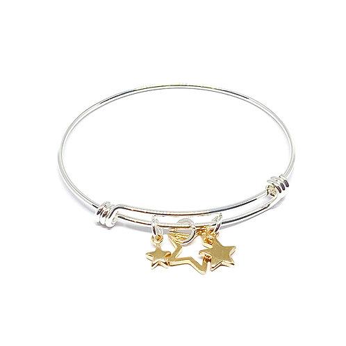Joanna Star Charm Bangle - Gold
