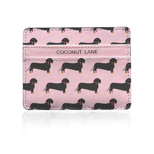 Pink Dachshund Card Holder