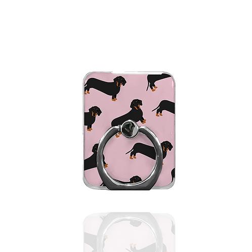 Pink Dachshund Phone Ring
