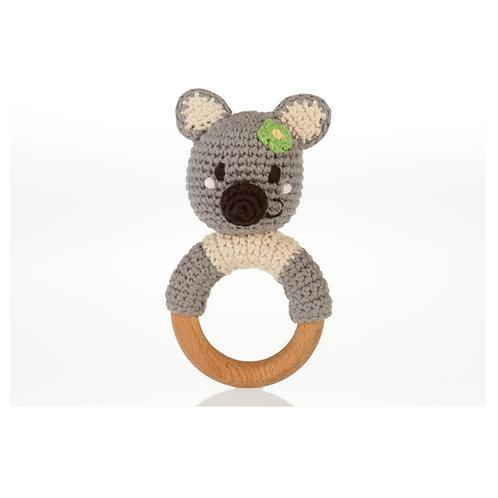 Wooden ring rattle – koala