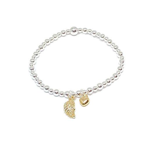 Sophia Angel Wing Charm Bracelet - Gold