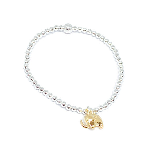 Daisy Elephant Bracelet - Gold