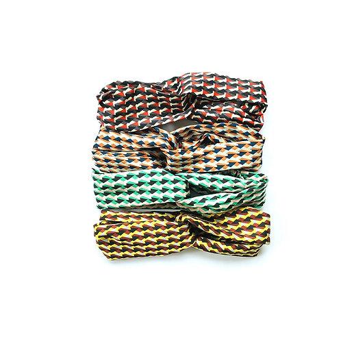 Mixed abstract geometric print headbands