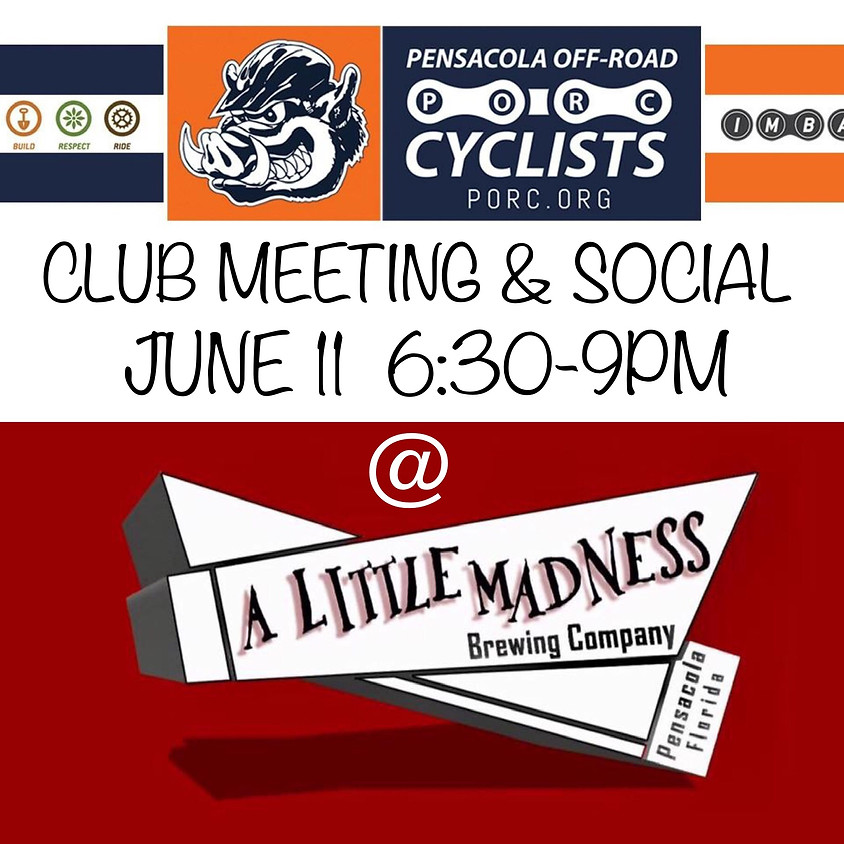 PORC Club Meeting & Social
