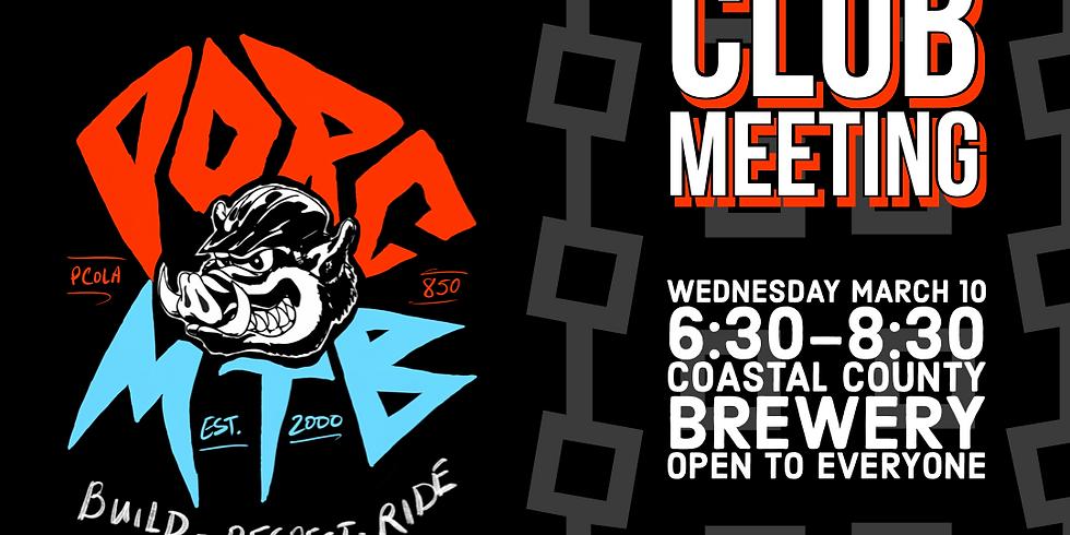 PORC Club Meeting - 3/10/2021