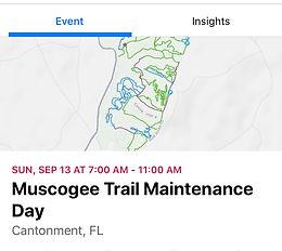 Muscogee Trail Maintenance Day