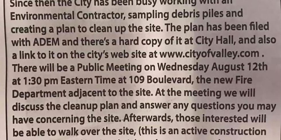 Fairfax Mill Site - Public Meeting