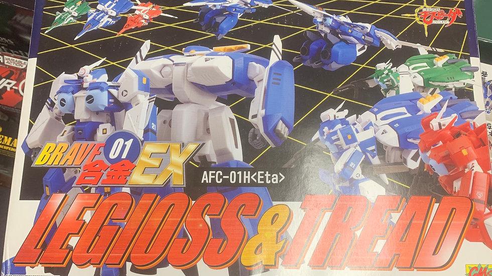 CM's cms Mospeada Brave Chogokin EX01 Legioss & Tread Blue ETA AFC-01H