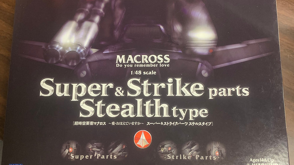 Macross Super & Strike Parts for Stealth type 1/48