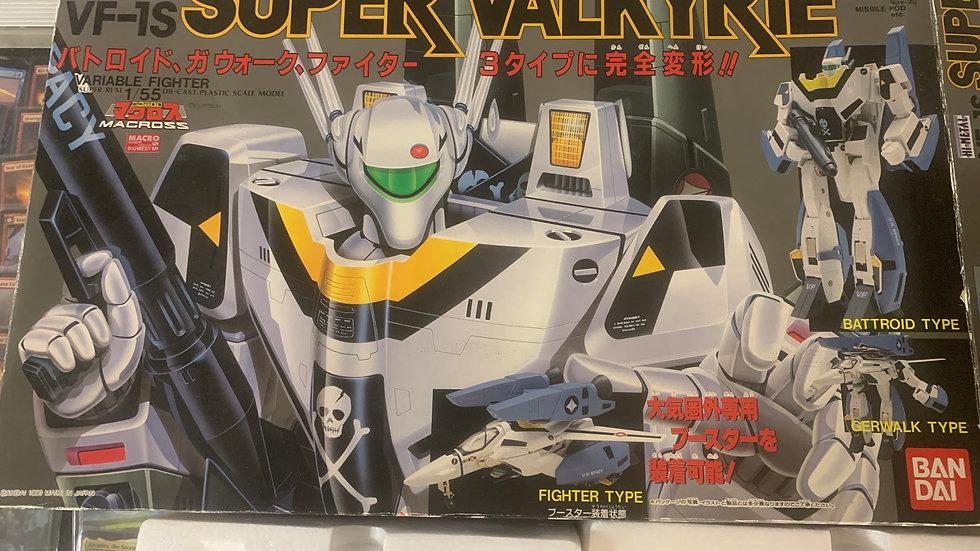 MACROSS ROBOTECH VF-1S SUPER VALKYRIE 1/55 BANDAI JETFIRE ROY FOCKER TAKATOKU