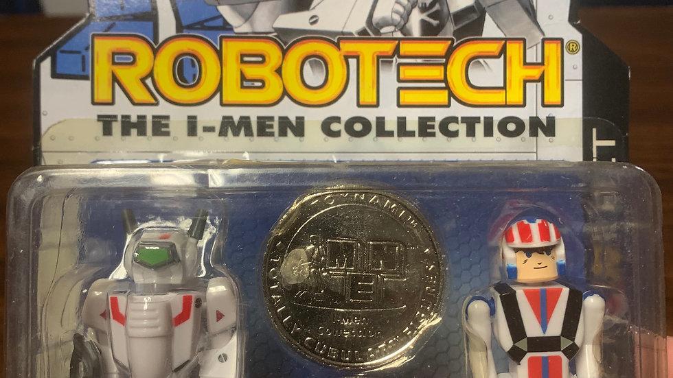 Robotech I-men collection VF-1J/ Rick Hunter  magnetic feet