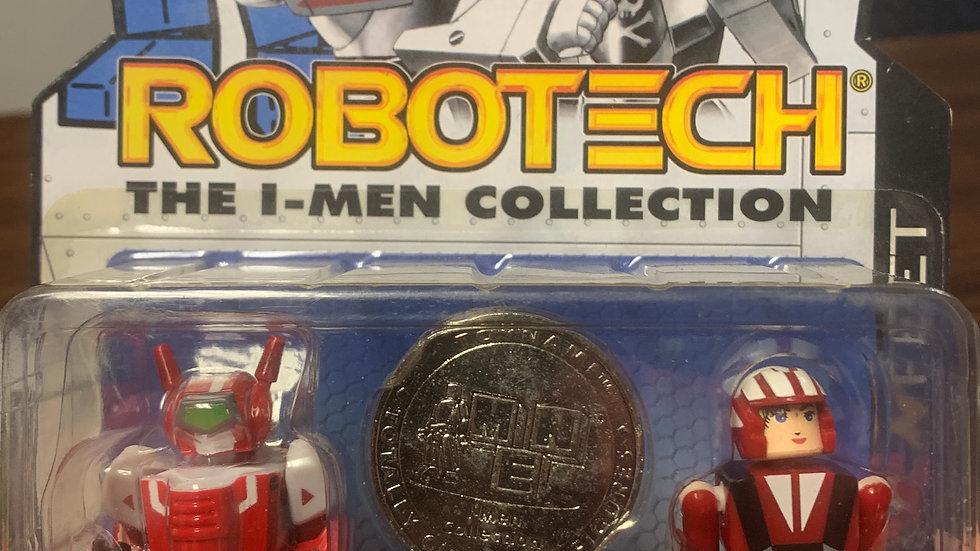 Robotech I-men collection VF-1J/ Miriya magnetic feet