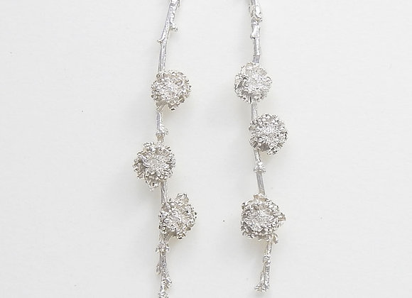 Three Blooms earrings