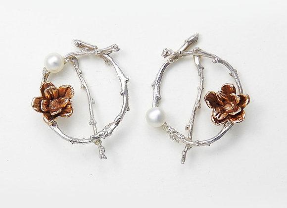 Twig Circles Earrings