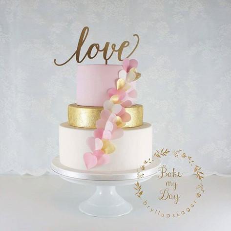 En enkel og moderne designede pink og gu