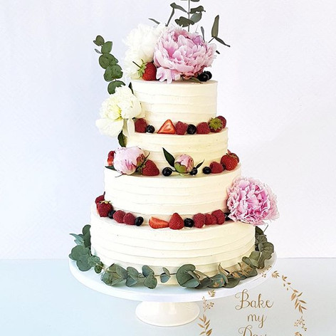 We are seeing a trend in wedding cakes t