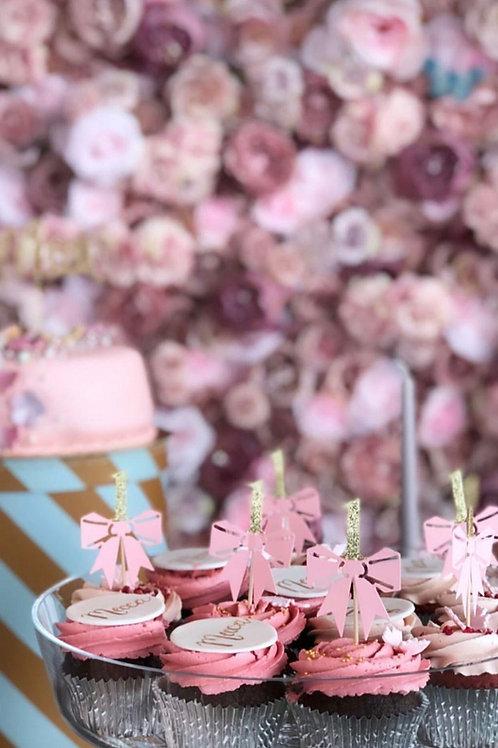 Cupcakes med navneskilte