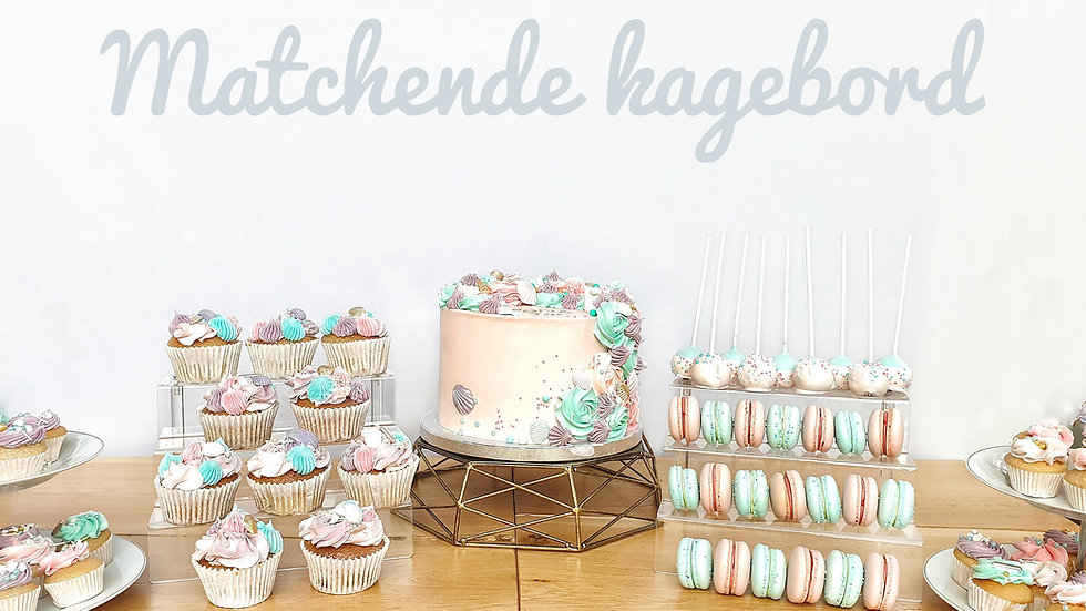 Matching cake table
