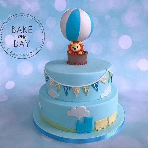 Hvor sød er denne dåbskage 🦁😍 #kage #d