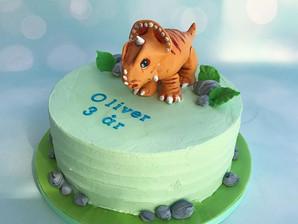 En sød lille dinosaur kage til Oliver 🍃