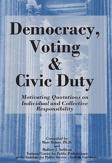 Democracy, Voting & Civic Responsibility