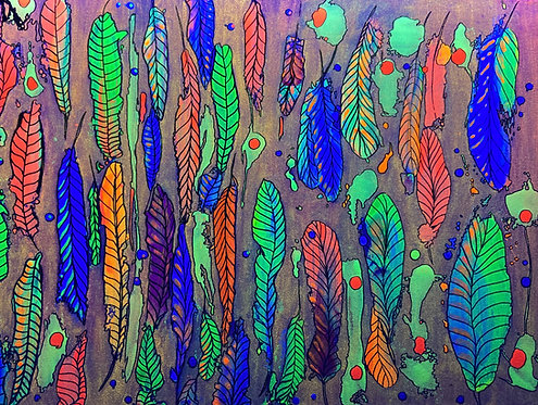 Fluorescent Feathers