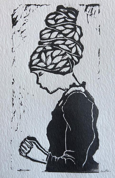 Christmas card #4 Linocut Print