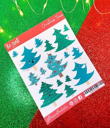Christmas Tree | Christmas Sticker Sheet | Large