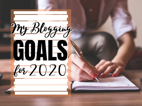My Blogging Goals for 2020