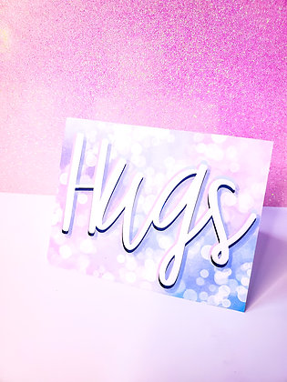 Hugs | Cotton Candy Dreams | Encouraging Card | Greeting Card