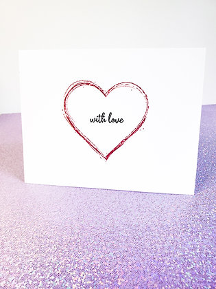 With Love | Love Card | Greeting Card