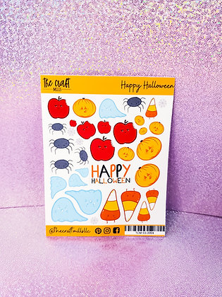Mini Happy Halloween Characters | Halloween Stickers | Sticker Sheet | Small