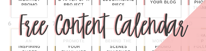 Free Content Calendar - The Craft Mills, LLC