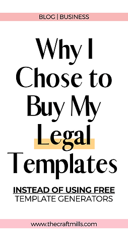 Why I chose to buy my legal templates instead of using template generators.