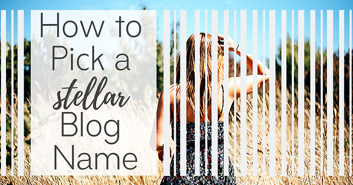 How to pick a blog name