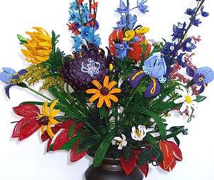 Mary Denne | Beaded Flowers | Auburn Gallery