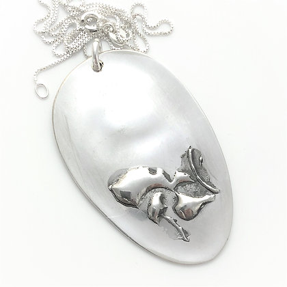 Embossed Spoon Necklace