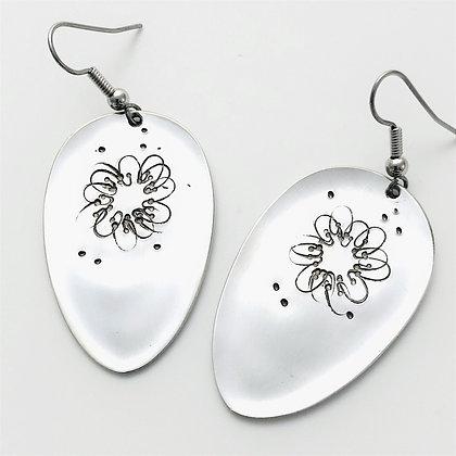 Stamped Mabel Earrings