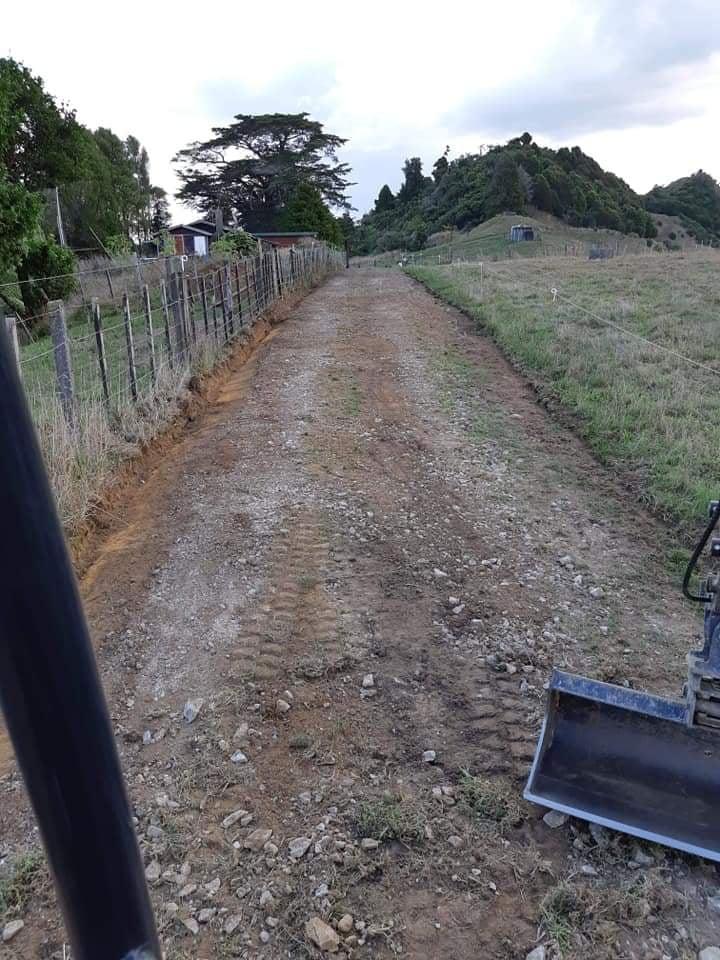 Farm driveway prep