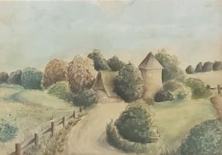 Manzara 18,5 x 23 cm watercolor