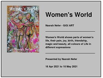 Women's World , Nasrah Nefer - Gigi Art virtual exhibition in Artavita till 16.06.2021