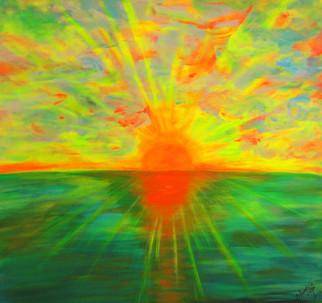 """Sunset"" 90 x 90 cm"