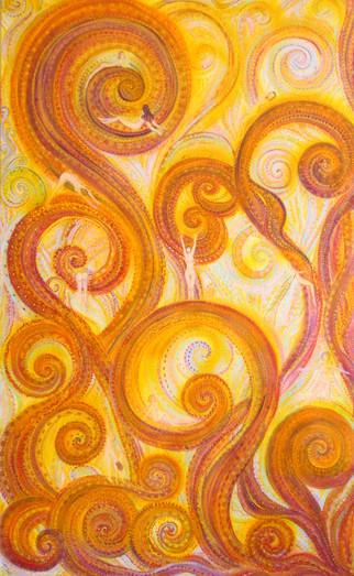 Manda-Labyrinth. 120x80cm