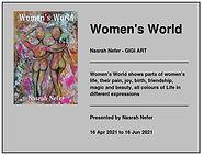 Nasrah Nefer. Exibition 2021. Women's Wo