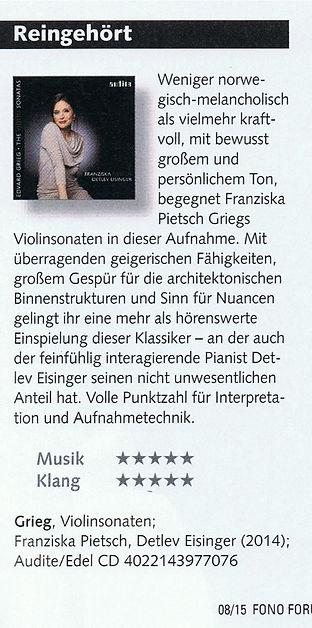 Franziska Pietsch - Grieg