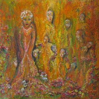 Gaia und ihre Kinder 57x57cm