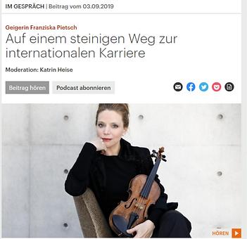 Geigerin Franziska Pietsch - Auf einem s