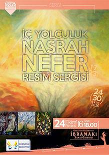 """Nasrah Nefer's Exhibition """"Iç Yolculuk"""" in Ibramaki Art Gallery, Kusadasi, Turkey october 2016"""