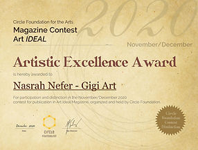 Nasrah Nefe awarded with Artistic Excellence Award of Circle Foundation Magazine Contest