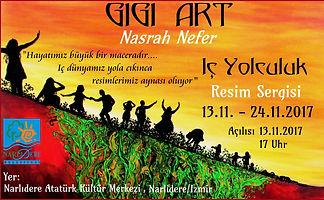 "Nasrah Nefer ""Inner Journey"" Exhibition in Atatürk Culture Center, Narlıdere, Turkey"